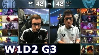 TSM vs SSG - Week 1 Day 2 | Group D LoL S6 World Championship 2016 W1D2 | TSM vs Samsung G1 Worlds