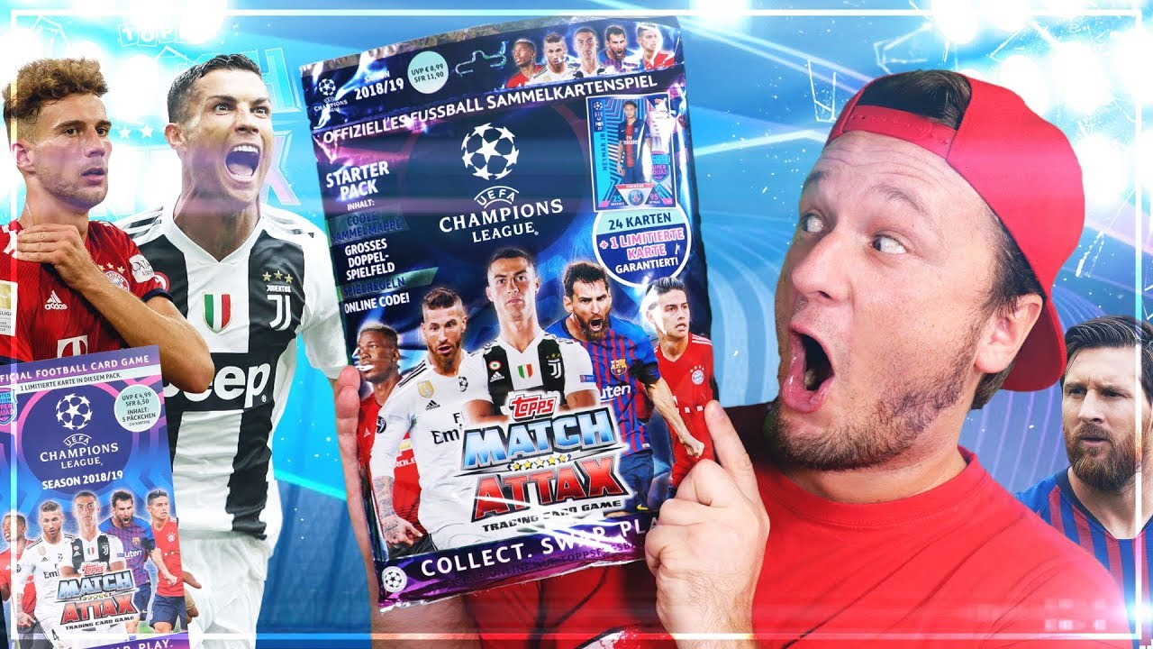 Match Attax Mega Starter Pack 2018 19 Champions League Blister