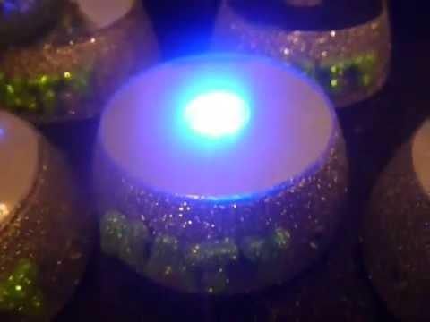 Centro de mesa luminoso para copon botellas imagenes de - Mesa centro de cristal ...
