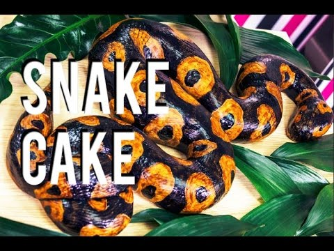 How to Make a SNAKE CAKE! Chocolate Chip Banana Cake with Coffee Buttercream! JUNGLE BOOK Giveaway!