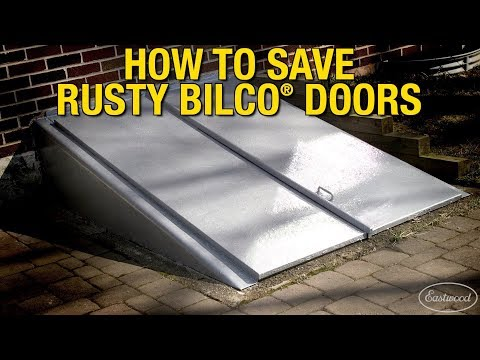 DIY Rust Treatment - How to Save Rusty Bilco® Doors - Rust Encapsulator Platinum - Eastwood
