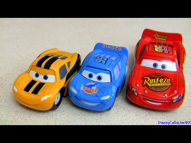 Dinoco Chick Hicks vs Lightning McQueen Mini Adventures 2-pack Cars 2 Disney Pixar Disneycollector Travel Video