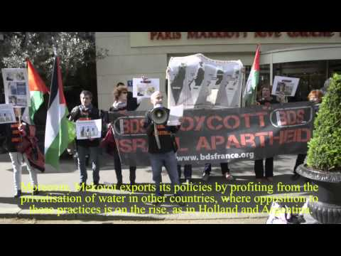 BDS The Global Water Summit 2014 Boycott Mekorot - Paris Le 8 Avril 2014