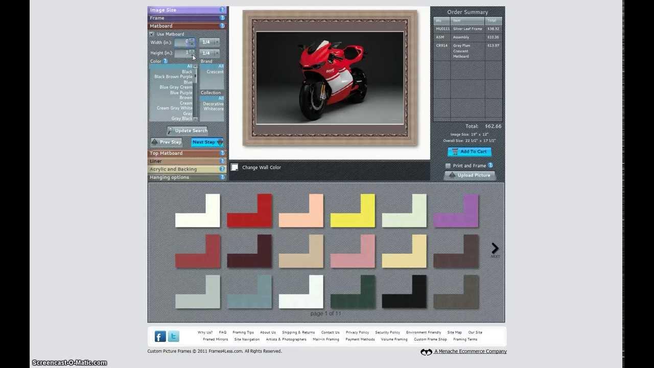 custom frames online. Custom Framing Online, Picture Frames At Frames4Less.com - YouTube Online