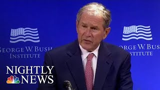 George W. Bush: U.S. Discourse Has Been 'Degraded By Casual Cruelty' | NBC Nightly News