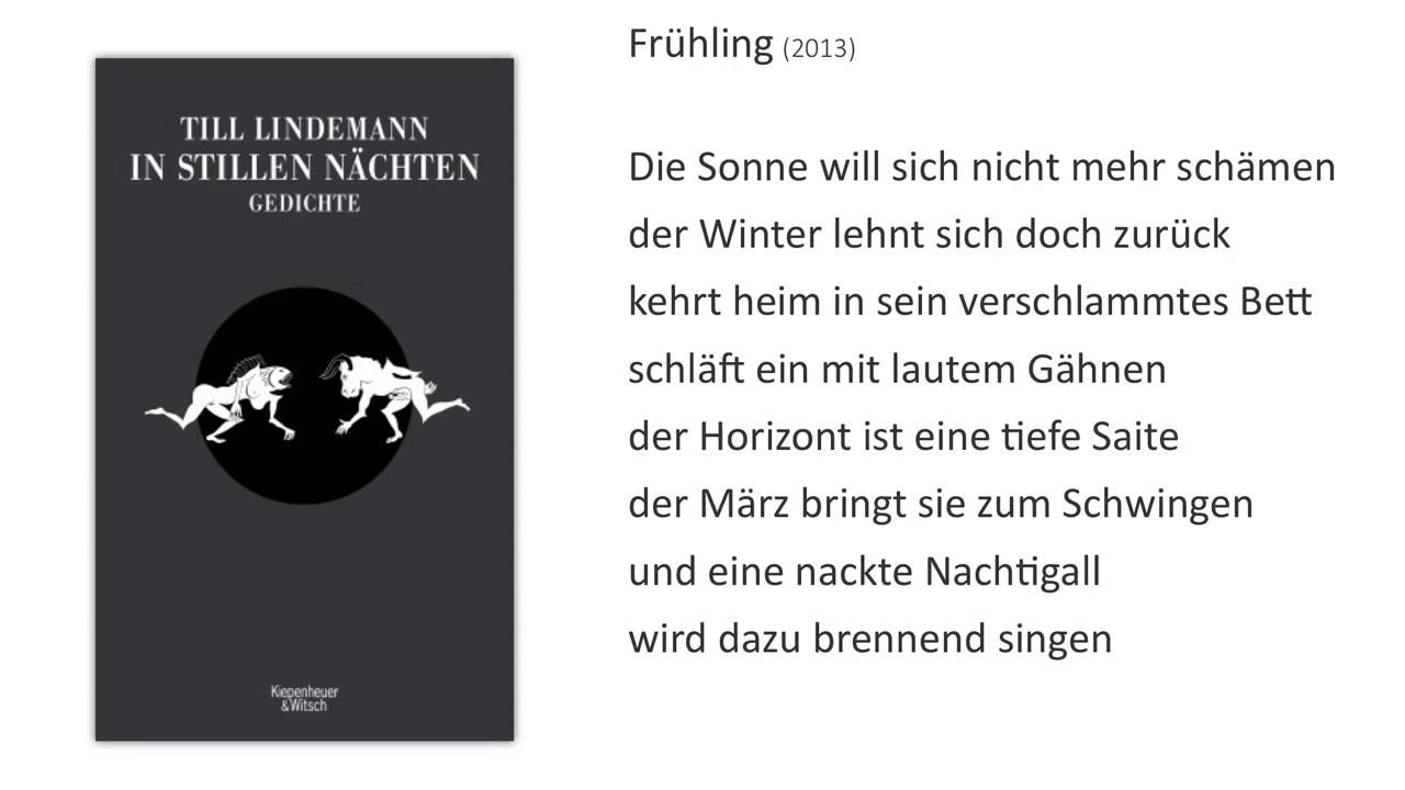 Fürstliche Interpretationen Till Lindemann Frühling 2013