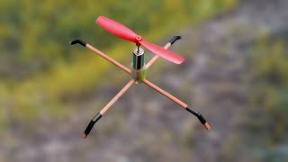 How to make a flying drone using single motor