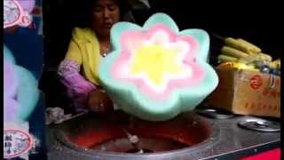 Awesome flower shaped cotton candy in China