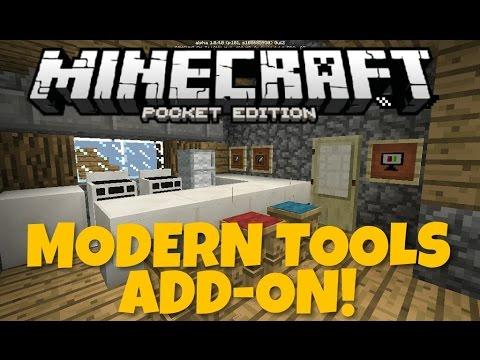 Modern Furniture Minecraft minecraft pe add-on: modern furniture in mcpe! (modern tools addon