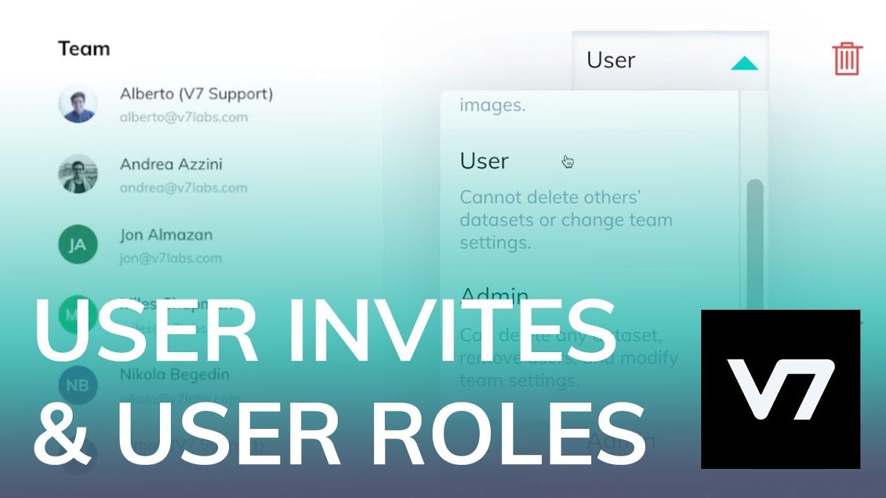 Invite Users, User Roles, Remove Users - V7 AI Academy