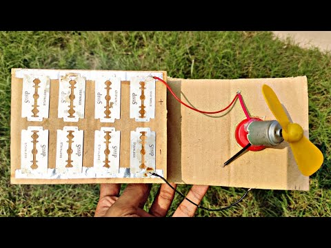 How To Make Solar Panel At Home Using Blades | Solar Cell At Home