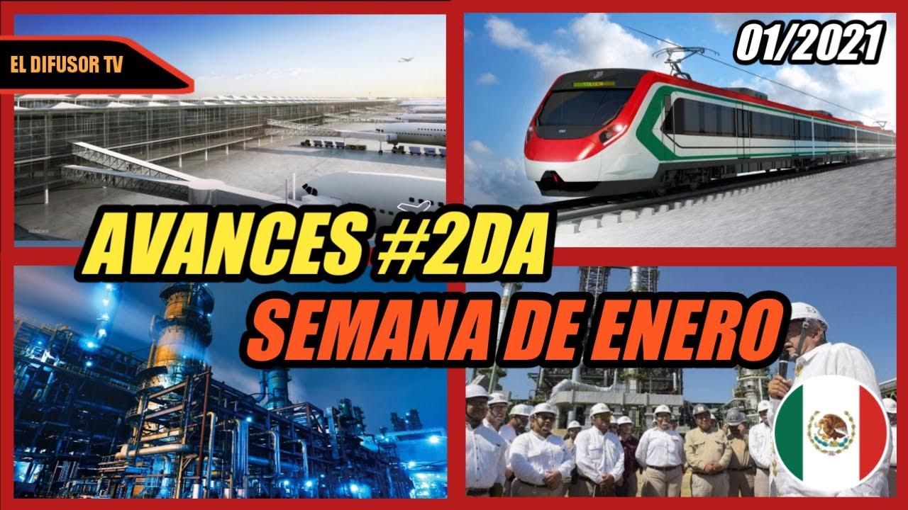AVANCES DE CONSTRUCCIÓN SEGUNDA SEMANA DE ENERO DEL 2021 ││ (AIFA, DOS BOCAS, TREN INTERURBANO)