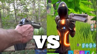 Fortnite Hand Cannon Vs Real Life Hand Cannon (Desert Eagle)