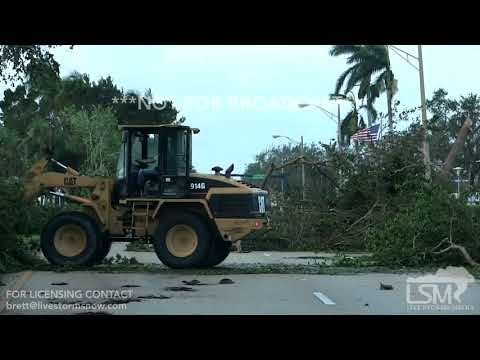 09-11-2017 Naples, FL Irma damage trees and flooding