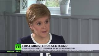 'Good' Brexit is worse than EU'  Sturgeon to apply for EU membership if IndyRef2 successful