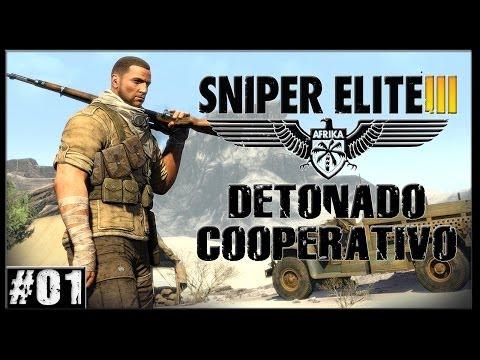 Sniper Elite 3 Africa Detonado Coop #01 PS4 1080p PT BR
