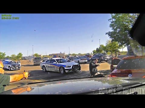 Knife-Wielding Double Homicide Suspect Gets Shot 7 Times in Walmart Parking Lot