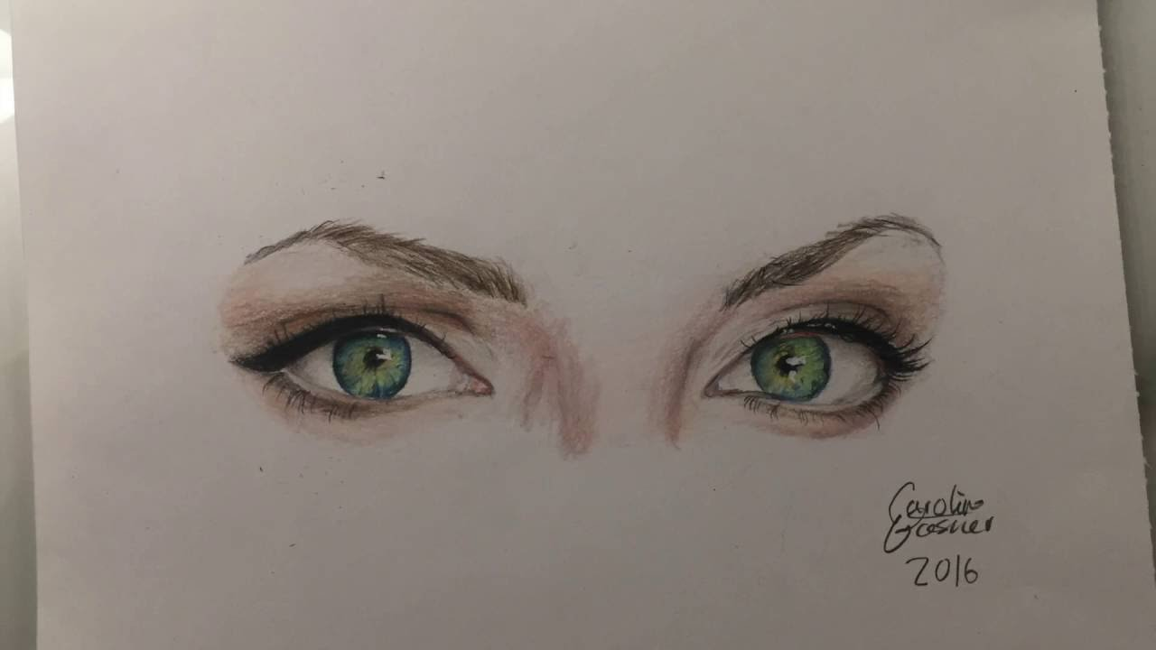 Drawing Angelina Jolie's Eyes
