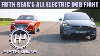All Electric Dog Fight - Tesla VS Audi | Fifth Gear