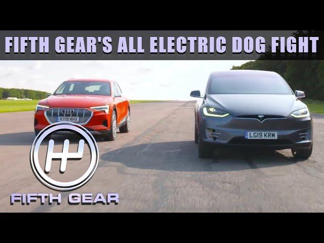 All Electric Dog Fight - Tesla VS Audi | Fifth Gear