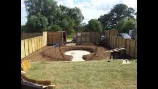 Paul Welford Show Garden Construction Sandringham Flower Show 2014