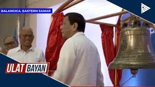 Pangulong #Duterte, dumalo sa turn-over ceremony ng Balangiga bells