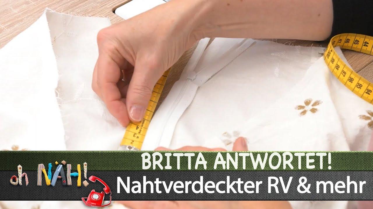 oh NÄH! – Britta antwortet! - nahtverdeckter Reißverschluss & mehr (Aufz. v. 28.07.2020)