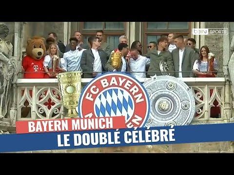 Bayern Munich - Les héros du doublé fêtés sur la Marienplatz !