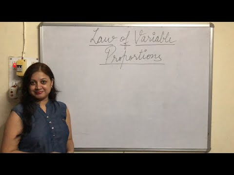 Law of variable proportions economics