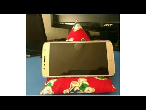 DIY Mobile Stand, Scrap to Mobile Cushion, Best from waste