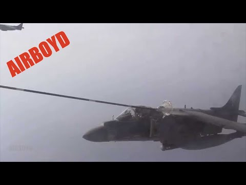 AV-8B Harrier Aerial Refueling
