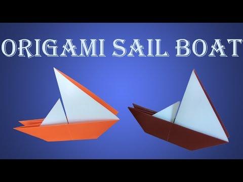How To Make Origami Sail Boat; DIY Paper Sail Boat - Paper Sail Boat Tutorial
