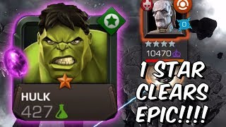1 Star Hulk Destroys Epic Save The Battlerealm! - Power Stone OP - Marvel Contest of Champions