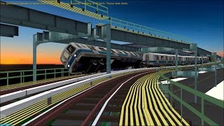 OpenBVE HD Troll: NYC Subway Pre-GOH R44 Luminator Flip-dot Fung Wah Bus M Train