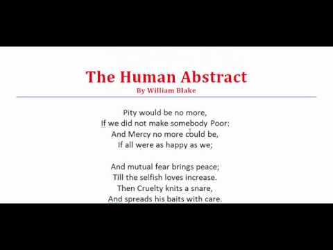 the human abstract poem
