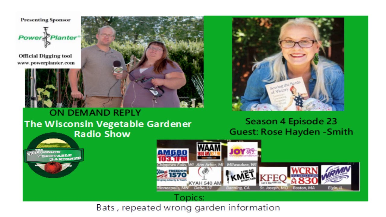 Audio S4E23 The Importance of Bats, repeated wrong gardening information, Guest Dr Rose Hayden smith