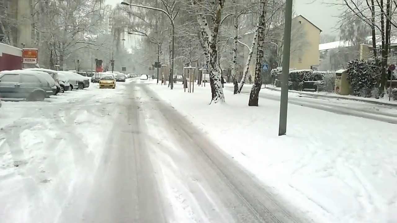 Frankfurt Main Snow Schneefall Am Hd Youtube