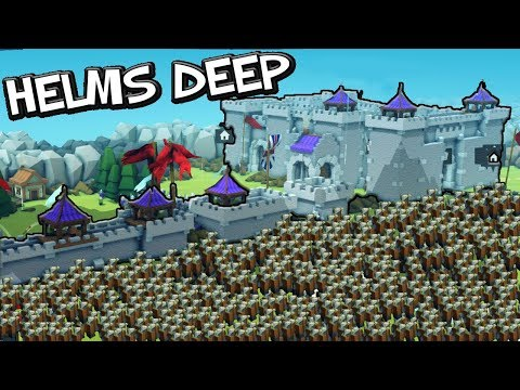 I MADE HELMS DEEP ! Kingdoms and Castles Gameplay - Creative mode