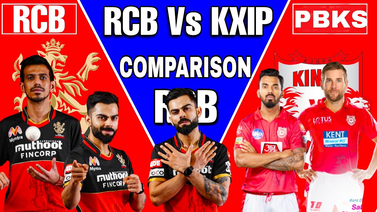 IPL 2021 - Royal Challengers Bangalore Vs Punjab Kings Comparison {RCB vs PBKS} IPL 2021