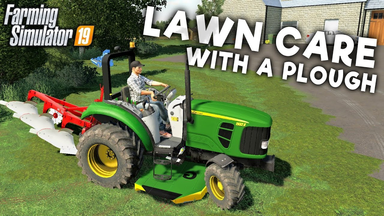 LAWN CARE WITH A PLOUGH - Getting the Grass Seed Down
