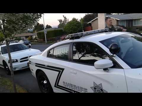 Clackamas county sheriff deputies in northeast Portland
