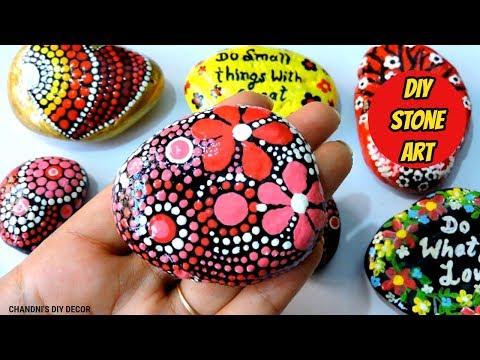 DIY Stone Art || Easy Stone Painting || Mandala Stone Art || Pebble Painting Ideas ||