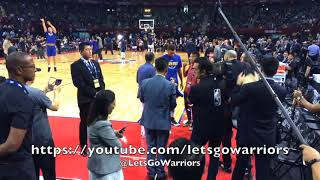 2a398344f7fb0 Golden State Warriors courtside entrance pregame in Shenzhen  Stephen Curry