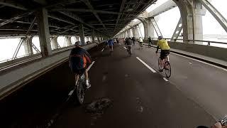 Biking over the Verrazano Bridge 5/6/2018