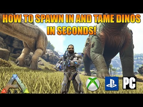 ARK - HOW TO SPAWN IN AND TAME DINOS IN SECONDS AT ANY LEVEL! - ADMIN COMMANDS! (XBOX/PS4/PC)