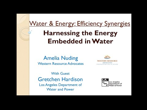 [Blueprint for Efficiency] Harnessing Energy Embedded in Water