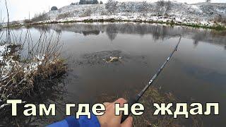 Клюёт там где не ждёшь Спиннинг с берега Первый снег