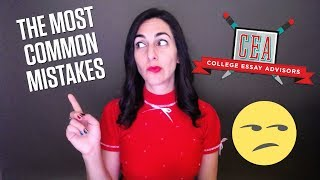 The Most Common Mistakes Students Make in Their College Essays