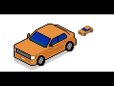 Isometric Car Pixel Art In Hangouts