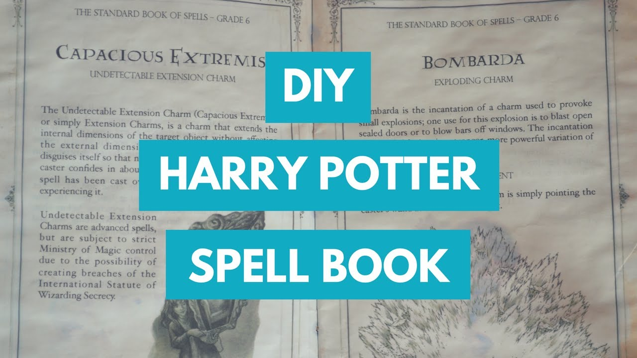 photo regarding Harry Potter Spell Book Printable named Do it yourself HARRY POTTER SPELLBOOK